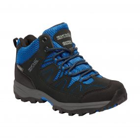 Regatta Holcombe Mid Jnr Walking Boot Black OxBlue