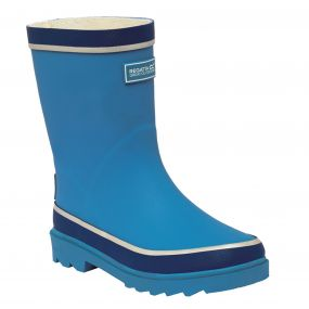 Regatta Foxfire Junior Wellington Boot Methyl Blue