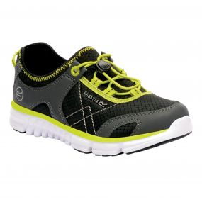 Regatta Platipus II junior Shoe Black Neon
