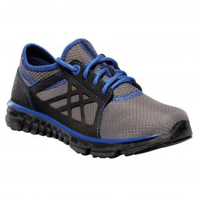 Regatta Kids Marine Sport Walking Shoes Black Skydiver Blue