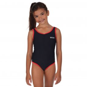 Regatta Girls Diver Swimming Costume Navy