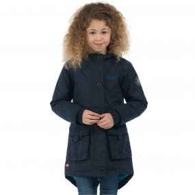 Regatta Girls Totteridge Parka Jacket Navy