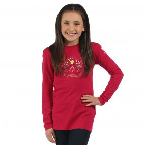 Regatta Wilder Long Sleeve T-Shirt Dark Cerise