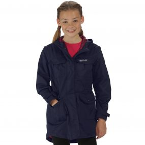 Regatta Girls Treasure II Parka Navy