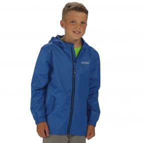 Kids Disguize Waterproof Jacket with Water Activated Pattern Oxford Blue