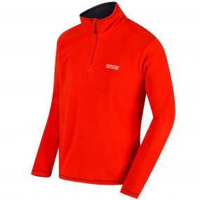 Regatta Thompson Half Zip Lightweight Fleece Amber Glow