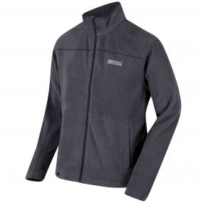 Regatta Fairview Mid Weight Full Zip Fleece Seal Grey and Iron