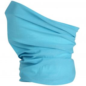 Adults Stretch Multitube Scarf Unisex Aqua