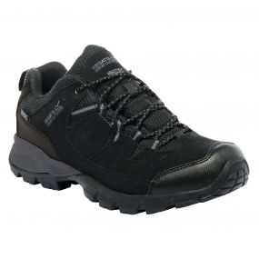 Regatta Men's Holcombe Low Walking Shoes Black Granite