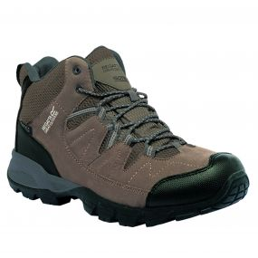 Regatta Men's Holcombe Mid Walking Boots Walnut Burnt Tikka