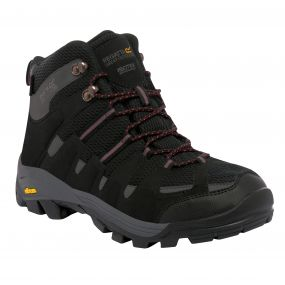 Regatta Burrell Hiking Boot Black Granite