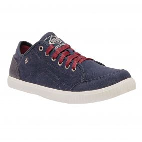 Regatta Men's Turnpike Lite Lightweight Canvas Shoes Navy Delhi Red
