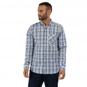 Regatta Bacchus Coolweave Long Sleeve Shirt Oxford Blue