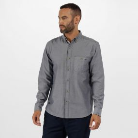 Regatta Bacchus Coolweave Long Sleeve Shirt Chambray