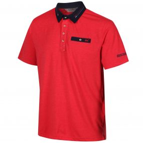 Regatta Brantley Coolweave Hybrid Cotton Polyester Polo Shirt Pepper