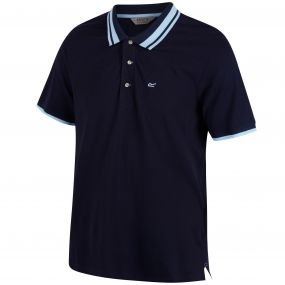 Regatta Talcott Coolweave Cotton Polo Shirt Navy