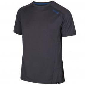 Regatta HyperReflective Quick Dry Polyester T Shirt Seal Grey