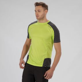 Regatta HyperReflective Quick Dry Polyester T Shirt Lime Green