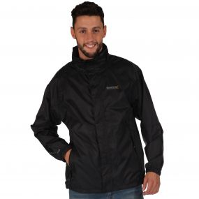 Regatta Magnitude IV Breathable Waterproof Shell Jacket with Concealed Hood Black