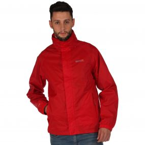 Regatta Magnitude IV Breathable Waterproof Shell Jacket with Concealed Hood Pepper Red