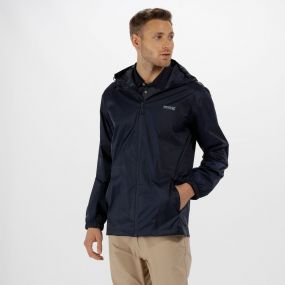 Regatta Pack It Jacket lll Waterproof Packaway Navy