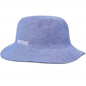 Regatta Cagney Coolweave Cotton Canvas Hat Chambray Navy