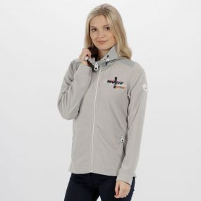 Regatta Darlene Lightweight Full Zip Fleece Light Steel