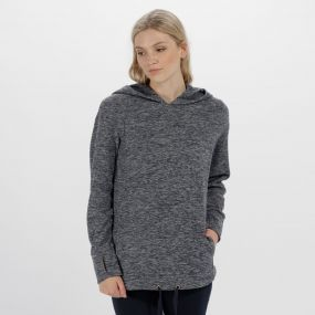 Regatta Chantile Marl Fleece Oversized Hood Navy