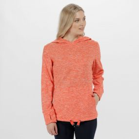 Regatta Chantile Marl Fleece Oversized Hood Fleece Neon Peach