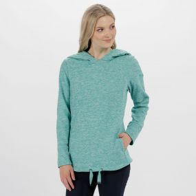 Regatta Chantile Marl Fleece Oversized Hood Fleece Jade Green