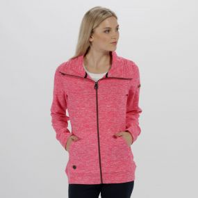 Regatta Elayna Full Zip Marl Fleece Hot Pink