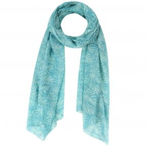 Regatta Sancia Printed Cotton Scarf Scarf Jade Green