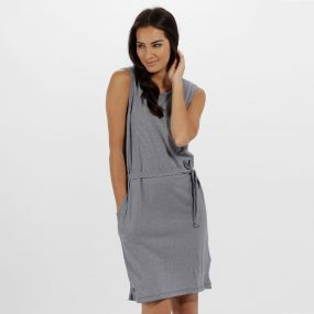Regatta Haydee Coolweave Cottom Dress Navy