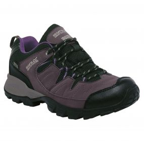 Regatta Women's Holcombe Low Walking Shoes Shark Blackberry