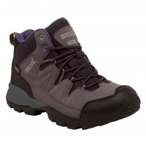 Regatta Women's Holcombe Mid Walking Boots Shark Blackberry