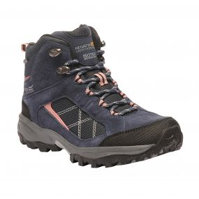 Regatta Women's Clydebank Mid Hiking Boots Navy Ash Rose