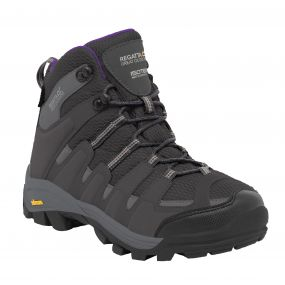 Regatta Lady Burrell Hiking Boot Steel   Purple