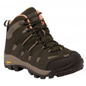 Regatta Lady Burrell Hiking Boot Brown Coral