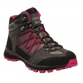 Regatta Women's Samaris II Mid Hiking Boots Briar Dark Cerise