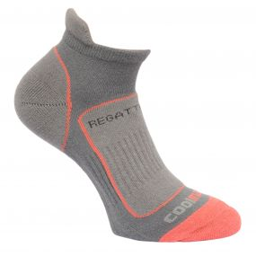 Regatta Women's Trail Runner Trainer Socks Steel Coral