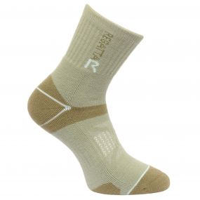 Regatta Women's Two Layer Blister Protection Socks Seagrass Yucca