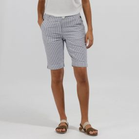 Regatta Sophilla II Coolweave Cotton Shorts Ticking Stripe