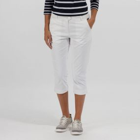 Regatta Maleena Coolweave Cotton Capris White