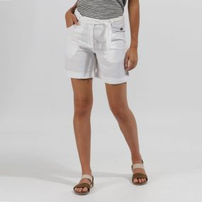 Regatta Samarah Coolweave Cotton Shorts Short White
