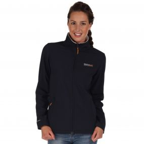 Regatta Connie III Funnel Neck Softshell Jacket Navy Polar Bear