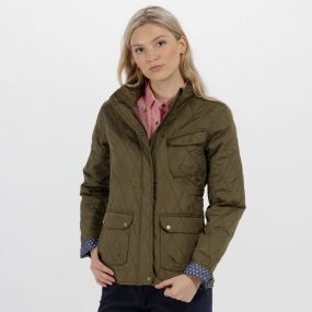 Regatta Camryn Quilted Jacket Ivy Green