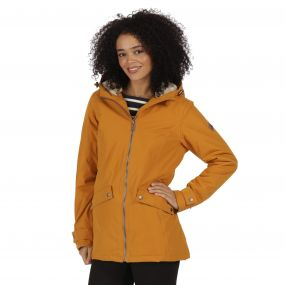 Regatta Brienna Waterproof Insulated Hooded Jacket Gold Cumin