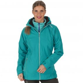 Regatta Premilla Waterproof 3-in-1 Jacket Aqua Horizon