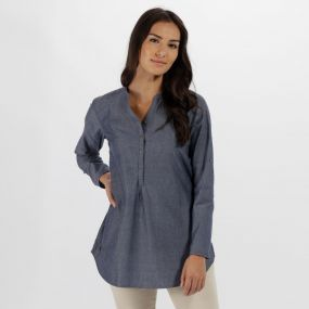 Regatta Mackayla All Over Print Coolweave Shirt Chambray