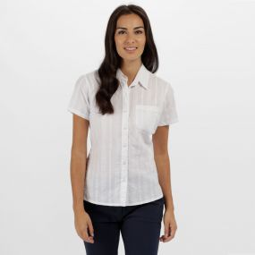 Regatta Jerbra II Coolweave Cotton Shirt White